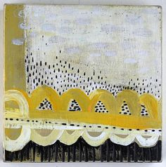 Acrylic, enamel and carving on birch panel  6 x 6 inches    Barbara Gilhooly