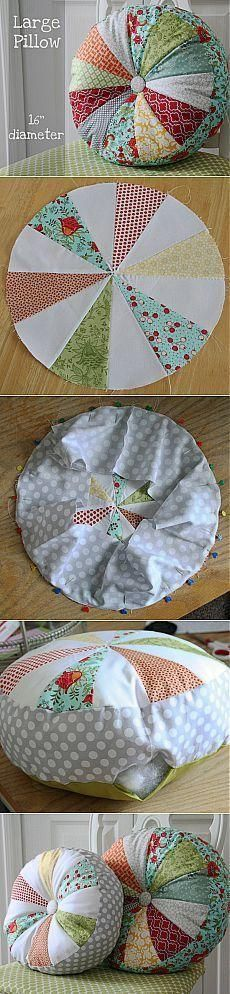 Super Ideas For Sewing Pillows Patchwork Ideas Sewing Pillows, Diy Pillows, Decorative Pillows, Throw Pillows, Fabric Crafts, Sewing Crafts, Sewing Projects, Sewing Tutorials, Sewing Hacks