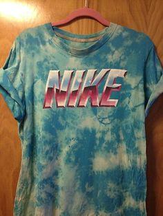 Nike Acid wash bleach tie dye Tshirt M streetwear grunge 90s DIY | eBay