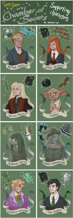 Harry Potter and the Chamber of Secrets supporting characters Harry Potter Poster, École Harry Potter, Magia Harry Potter, Fans D'harry Potter, Mundo Harry Potter, Harry Potter Characters, Harry Potter Universal, Harry Potter Pictures, Harry Potter Drawings