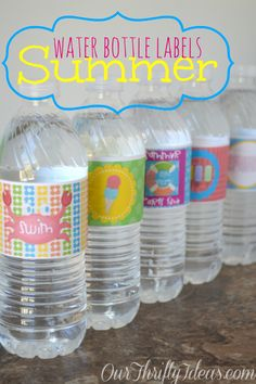 {printable} Summer Water Bottle Labels - Our Thrifty Ideas