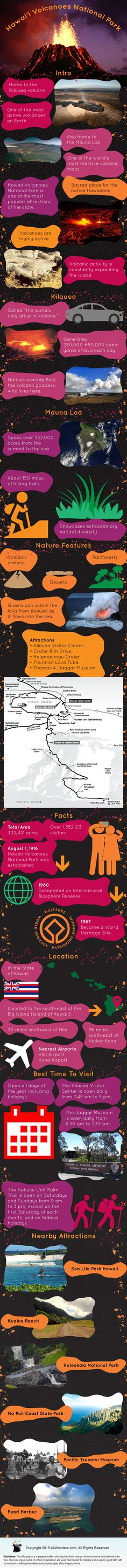 The Hawaii Volcanoes National Park shows details about theHawaii Volcanoes National Park of Hawaii. Get travel information like fast facts, when to visit, weather, places to visit, hotels, restaurants, things to do, transportation and much more.
