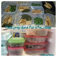 """U don't have time to prepare your meals in advance? Really? I just got home from a 4 hour road trip, 7 year old haircut appt & still made the time to get my meals together for a few days this week. If it's important to you, you'll find a way, if not, you'll make an excuse. This is new for me to this extent but helps me make sure I'm fully prepared! No boring or bland food here....grabbed some spices from the """"ethnic section"""" to add flavor without the extra salt...white fish & spinach & green…"""