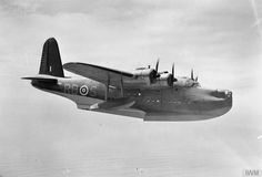 BATTLE ATLANTIC 1939 - 1945. A Short Sunderland Mk II flying boat of 10 Squadron, Royal Australian Air Force, used for reconnaissance and anti-U-boat duties.