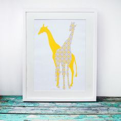 giraffe por Art Of Fancywork en Etsy
