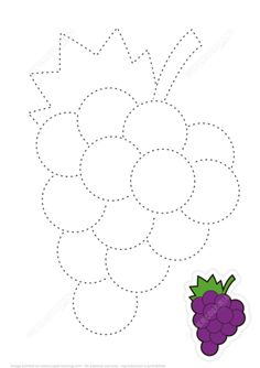 Learn to Draw Sweet Grapes by Tracing Lines Puzzle game Shape Worksheets For Preschool, Writing Practice Worksheets, Math Workbook, English Worksheets For Kids, Preschool Writing, Numbers Preschool, Preschool Learning Activities, Preschool Activities, Drawing Lessons For Kids