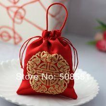 Saco favor saco caixas do favor 300pcs envio gratuito de casamento vermelho doce feito na China (China (continente))