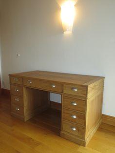 #Schreibtisch in #Eiche #gebürstet und geölt