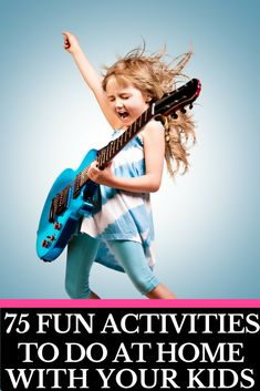 Ultimate Kids Activities Cheat Sheet! 75 Creative Activities for Kids | Looking for fun things for kids to do at home on weekends, rainy days, spring break, or during the summer months when they're bored? Whether you're looking for arts and crafts, LEGO activities, DIY fun, easy STEM projects, or fun family games we've got something your kids will love! From toddlers to tweens and teenagers there is an activity for every age on this list of the best boredom busters! #kidsactivities…