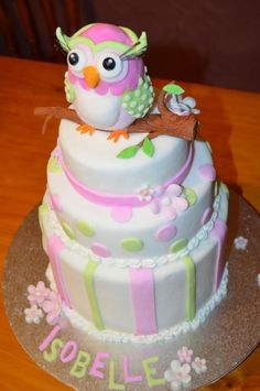 Owl themed cake By suke on CakeCentral.com