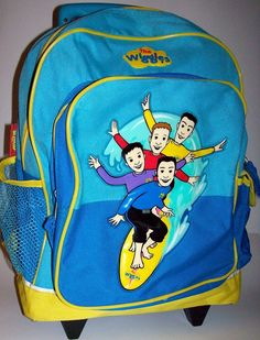 VTG The Wiggles Backpack Carry On Bag With Wheels Greg Murray Jeff Anthony  #HitEntertainment #TheWiggles