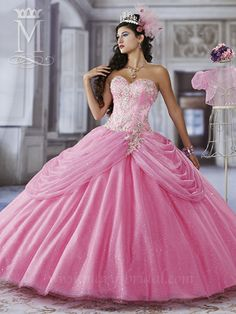 Mary's Bridal 4Q937 | Colors Available: Hot Pink/Multi; Magenta/Multi; Sapphire/Multi or White/Multi | Fabric: Sparkling Tulle