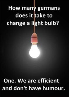 How Many Germans Does It Take To Change A Light Bulb? #no #humor #humour