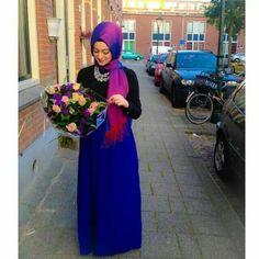 Hijab fashion Islamic Fashion, Muslim Fashion, Modest Fashion, Fashion Outfits, Easy Hijab Style, Simple Hijab, Hijab Dress, Hijab Outfit, Hijab Wear