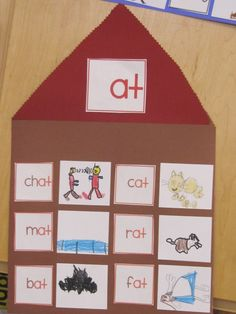 Word family houses (the kids make the pictures to illustrate the rhyming words)