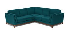 Ceni Lagoon Blue Corner Sectional