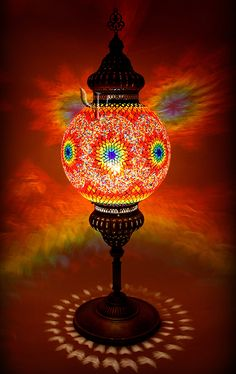 Turkish Table Lamp: 5 ball BluePurple Turkish Moroccan Hanging by WORLDSALESLIGHT, $89.00    dining room   Pinterest   Mosaics, Chandelier lamp and Glasses,Lighting