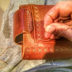 The art of stitching in leather