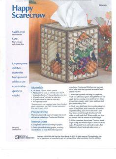 HAPPY SCARECROW TISSUE COVER 1/2