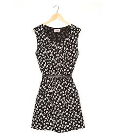 Loving this Black Floral Dreamy Dress on #zulily! #zulilyfinds