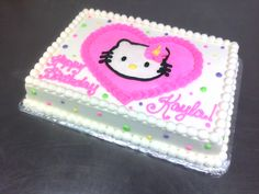 Polka-Dotted Hello Kitty Birthday Cake