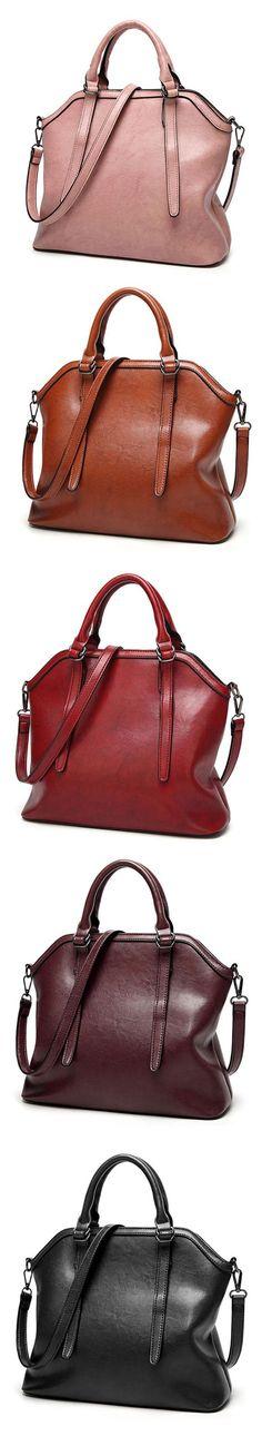 f4493a707c US 41.41 Ekphero Vintage PU Leather Handbag Shoulder Bag Crossbody Bag For  Women