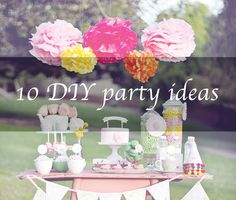 10 DIY party ideas   Sneakily simple but stunning ~ At Penny Lane :: Thrifty ideas for styling home & life for less