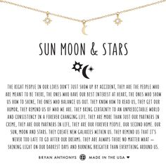 Bryan Anthonys dainty sun moon and stars necklace silver Moon And Sun Quotes, Moon Quotes, Star Quotes, Sun And Moon Poem, Life Quotes, Star Meaning, Moon Meaning, Sun Tattoo Meaning, Tattoos With Meaning