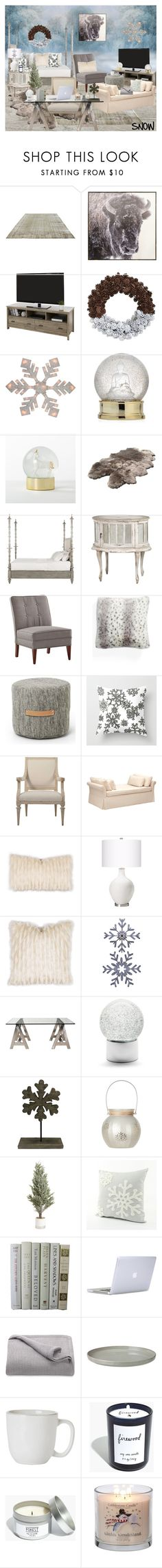 """""""SNOW"""" by sailorgirl ❤ liked on Polyvore featuring interior, interiors, interior design, home, home decor, interior decorating, New View, Northlight Homestore, Nordstrom and Design House Stockholm"""