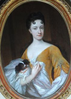 Attributed to Vollevens, Johannes, II (Dutch painter, 1685-1758) , Lady with a Dog