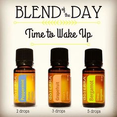 Good morning! If you are not already awake, then you need to be! And, this #blendoftheday is the perfect blend to help you get there! I hope everyone has a great Sunday and is ready for the week to come . #followme for a new diffuser blend every day, plus other tips & tricks on how to use essential oils!