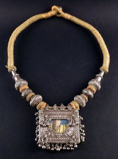 Rajasthan silver old amulet necklace - indiaDeepika. Dks Pinboard trails~*~