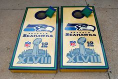Seattle Seahawks Custom Cornhole Super Bowl Edition bag set