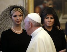 First Lady Melania Trump and the president's daughter, Ivanka, traveled to the Vatican on Wednesday with Donald Trump, who was meeting with the Pope for one of his most high-profile talks