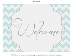 free chevron party printable welcome sign