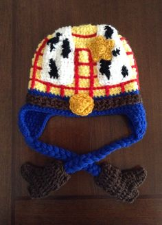 Toy+story+inspired+Woody+crochet+Hat+by+MelissasCrochetart+on+Etsy,+$28.00