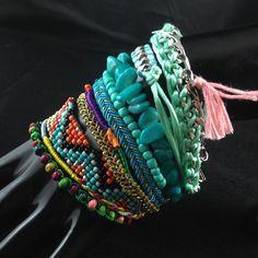 2014 Luxury Handmade Bohemia Weave Bead Bracelet Multilayer Fashion Statement Bracelets & Bangles For Women Party Jewelry $8.30