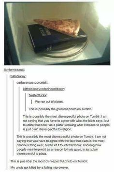 The pizza debate.