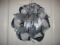 Dallas Cowboy Wreath by ClancyArt on Etsy, $49.00