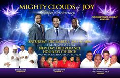 Mighty Clouds of Joy Gospel Anniversary Saturday December 1, 2012 at 4:00 P.M.