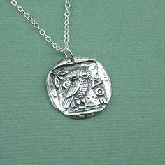 Athena owl necklace