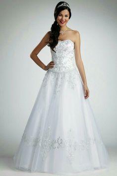 Tulle Balls Ball Gown Gowns Wedding Dresses Davids Bridal Dressses Petite Size The Princess Bride Chapel Train
