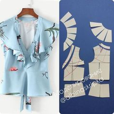 Baby Dress Sewing Pattern Tutorials 18 Ideas For 2019 Dress Sewing Patterns, Blouse Patterns, Clothing Patterns, Blouse Designs, Sewing Blouses, Sewing Shirts, Costura Fashion, Sewing Collars, Fashion Sewing