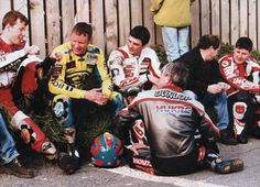 Denis McCullough, Adrian Archibald, Owen McNally, Joey Dunlop, James Courtney, so much class in one picture