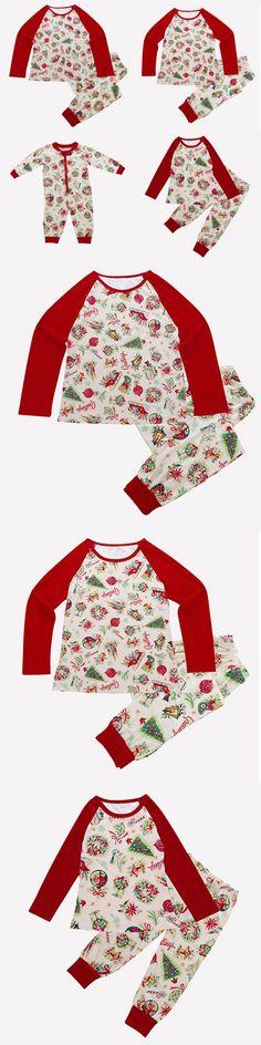 b03c5cfdda Sleepwear 84544  Family Matching Christmas Pajamas Set Women Baby Kids  Print Sleepwear Nightwear -  BUY IT NOW ONLY   18.89 on  eBay  sleepwear   family ...