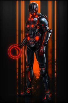 Cyberpunk, Tron Elite Guard by ~digitalinkrod on deviantART