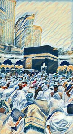 🌸On the occasion of the approach of the pilgrimage season,Let's wish to all Muslims 🌺Haj Mubarak🌺, May Allah's blessing light your way, strengthen your faith and bring joy to your heart. Mecca Wallpaper, Allah Wallpaper, Islamic Wallpaper, Eid Wallpaper, Mecca Kaaba, Motif Art Deco, Islamic Posters, Islamic Paintings, Artwork Paintings