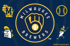 Studio Stories: Modernizing the Brewers Ball-in-Glove Logo Milwaukee City, Milwaukee Brewers, Brewer Logo, State Outline, Juventus Logo, Art Logo, Main Colors, Visual Identity, Storytelling