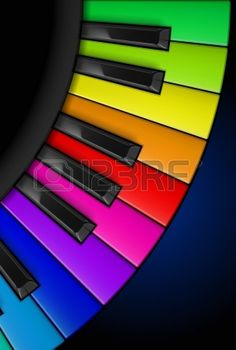 Illustration of Rainbow Piano keys. Vertical Illustration for design vector art, clipart and stock vectors. Rainbow Magic, Rainbow Art, Rainbow Colors, Vibrant Colors, Crazy Colour, Color Of Life, Touches De Piano, Paint Paint, Mandala