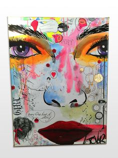 20 X 24 Face Canvas Print